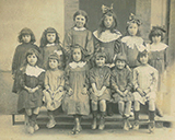 Photo de classe a Castelmaurou en 1915 - photo donnee par un habitant