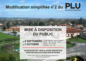 Modification simplifiee 2 du PLU Castelmaurou
